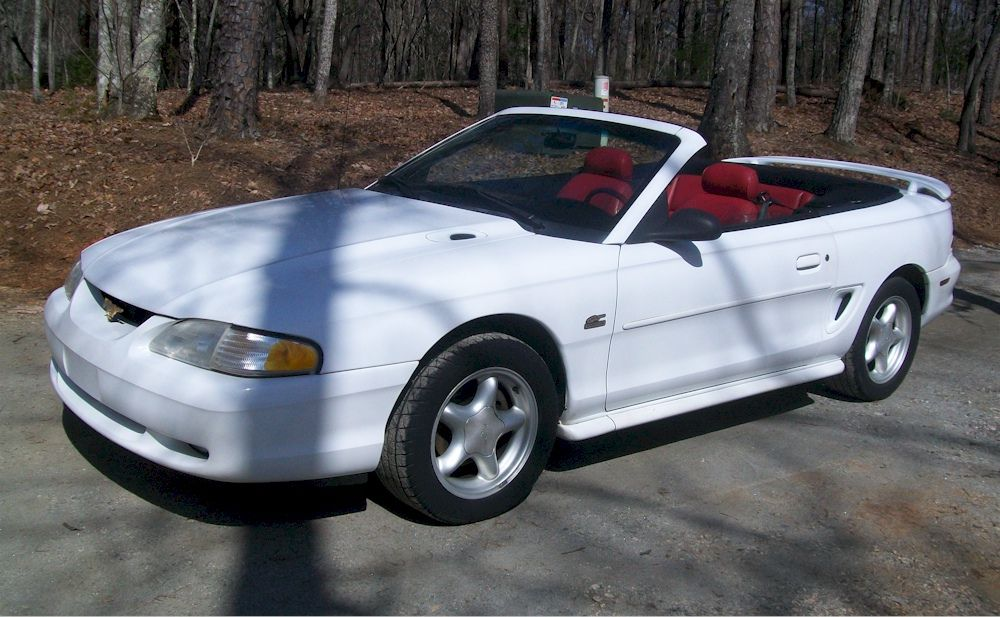 1995 Mustang Gt Convertible Crystal White