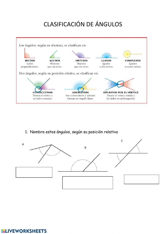 Angulos Ficha Interactiva Fichas Cuadernos Interactivos Matematicas