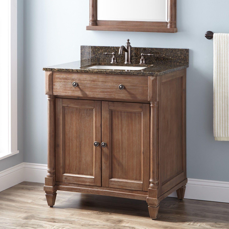 30 Neeson Vanity For Rectangular Undermount Sink Rustic Brown Wood Bathroom Vanity Bathroom Vanity Vanity