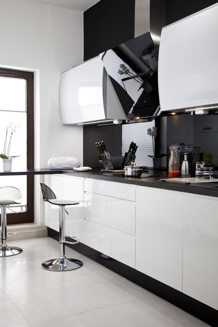 Kuchnia Z Salonem Biala Kuchnia I Nowoczesny Salon Galeria Modern Kitchen Cabinet Design Kitchen Room Design Contemporary Kitchen Design