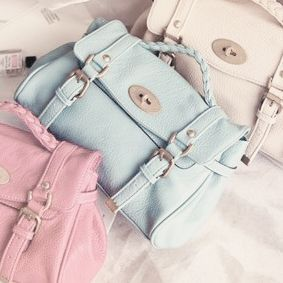 Absolutely cute pastel satchels. I would want the mint blue one.
