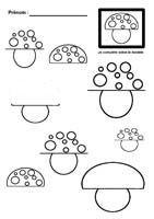 Graphisme autour du champignon