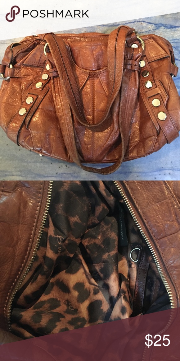 Brown Leather Bag With leopard print interior b makowsky Bags   My ... abd77b42e9