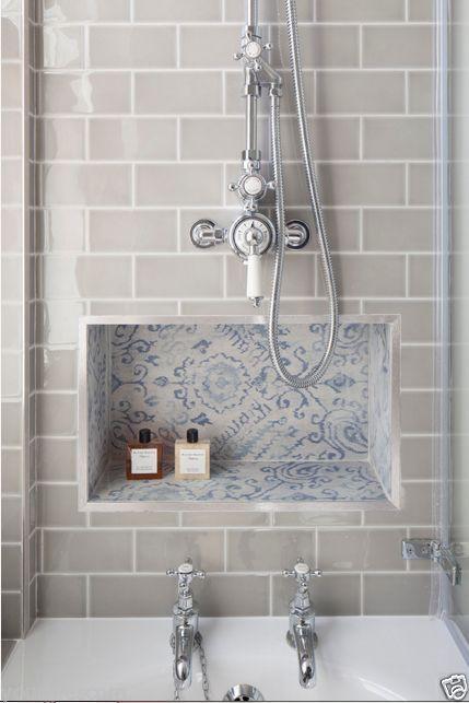 Devon Metro Flat Arctic Grey Gloss Subway Kitchen Bathroom Wall - Grey-bathroom-wall-tile