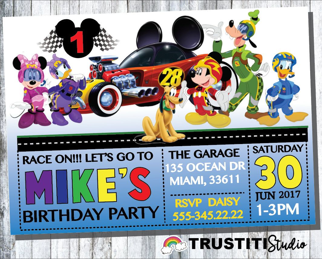 Mickey Mouse Birthday Invitations is perfect invitation sample