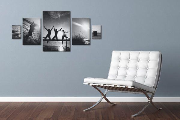 Wohnideen Bilderwand symmetrische fotocollage wohnideen bilderwand