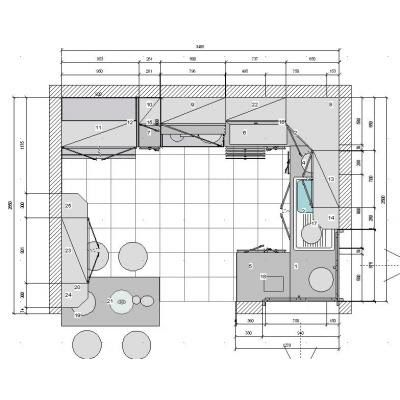 Dise o de cocinas en 3d fotorealismo planos dise o de for Planos para hacer una cocina integral