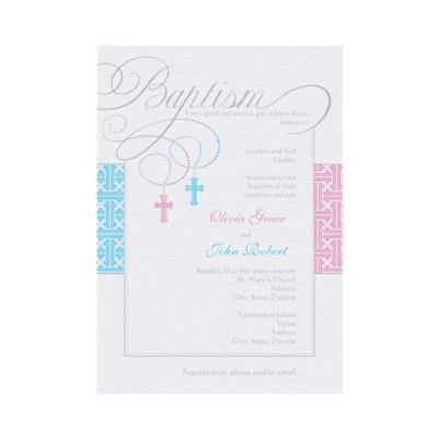 Boy and Girl Twins Baptism Invitation Baptism invitations, Twins - sample baptismal invitation for twins