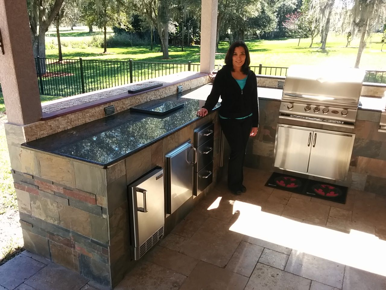 jocely lopez built this amazing outdoor kitchen with the bbq coach system outdoor kitchen on outdoor kitchen bbq id=50918