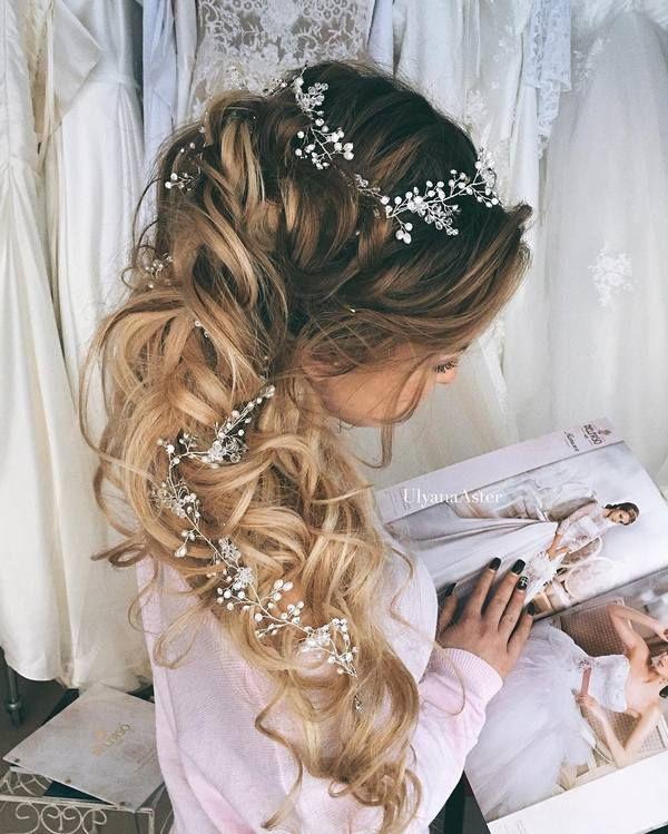 Ulyana Aster Romantic Long Bridal Wedding Hairstyles_30 ❤ See more: http://www.deerpearlflowers.com/romantic-bridal-wedding-hairstyles/