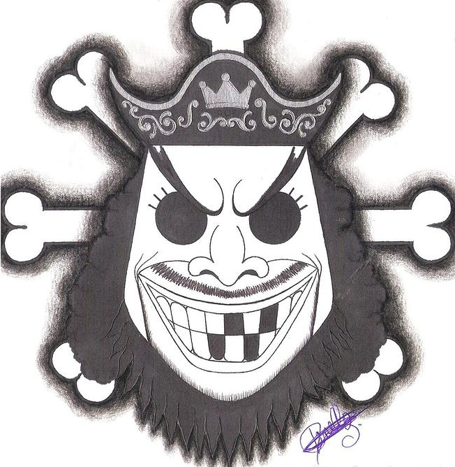 BlackBeard Pirate-Emblem. by LoLoOw