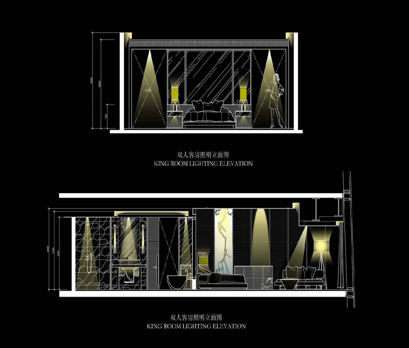Bedroom Elevations Interior Design Elevation Blocks What: Sky Lobby Lighting Elevation For The Four Seasons Hotel