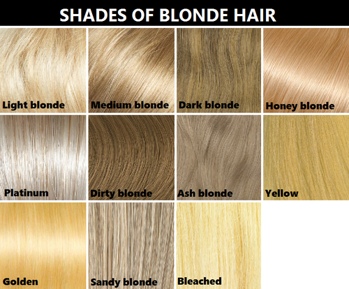 Hair color reference chart. It's not perfect, but from what I ...
