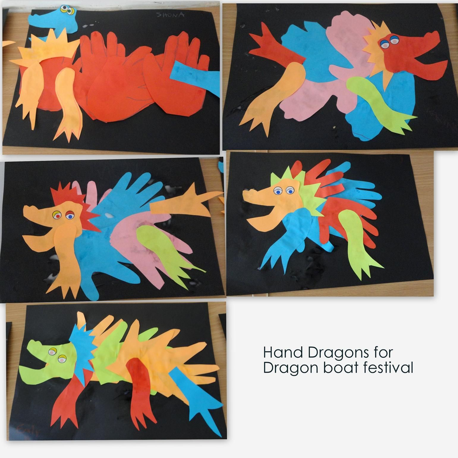 Dragons for dragon boat festival chinese crafts for Dragon crafts pinterest