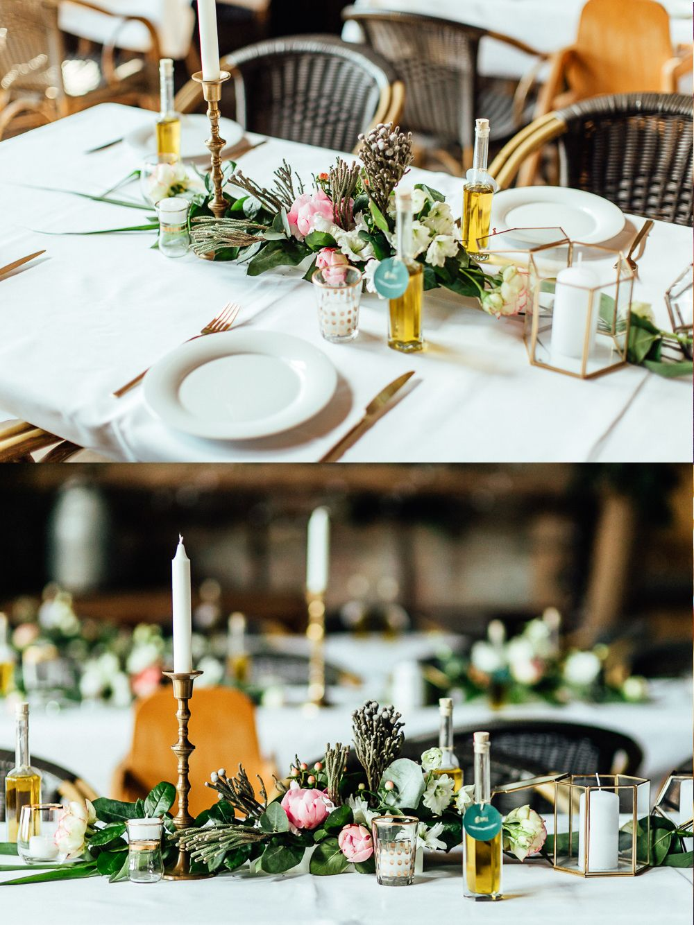 Unsere goldene hochzeitsdeko in der scheune hochzeit tischdeko hochzeit scheunen hochzeit - Brautpaar tischdeko ...