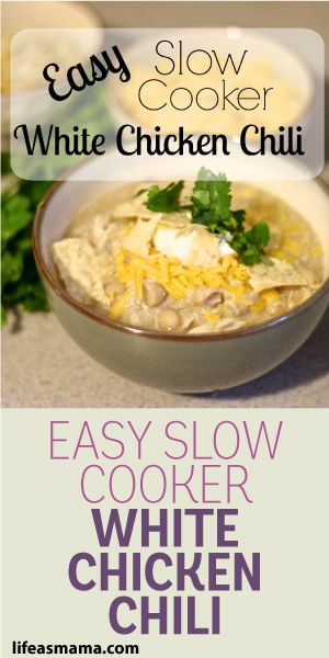 Easy Slow Cooker White Chicken Chili