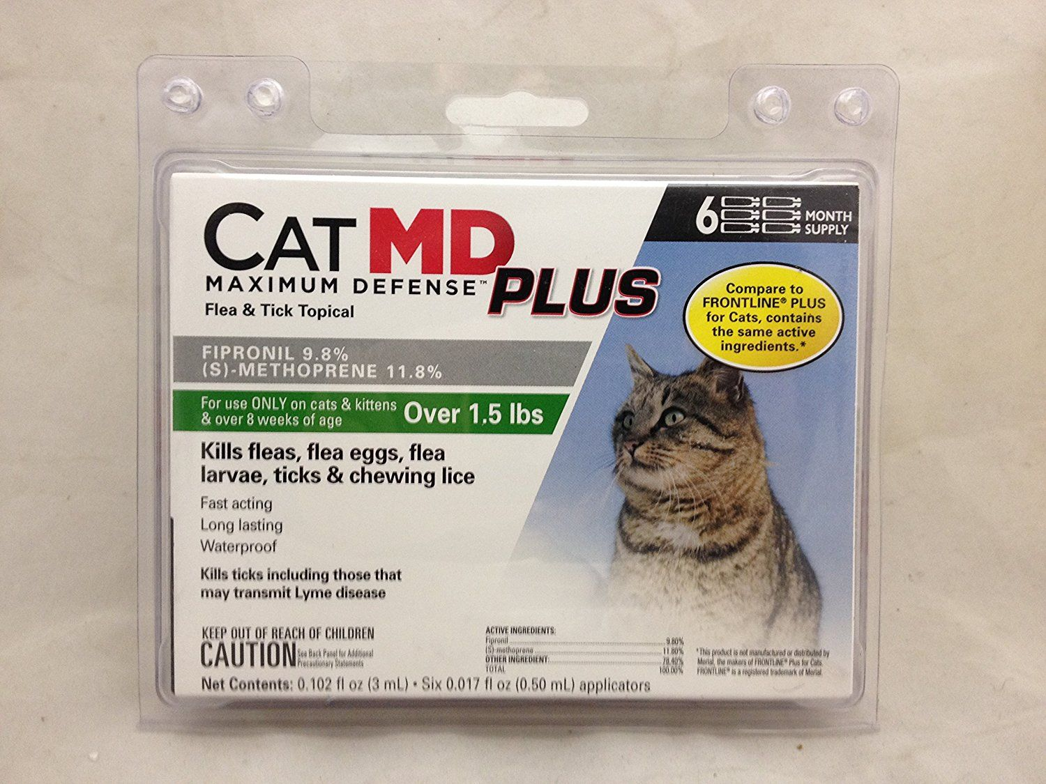 Catmd Max Defense Plus Flea And Tick Topica For Cats Over 1 5 Lbs 6 Month Supply You Can Find More Details By Vis Flea And Tick Fleas Frontline For Cats