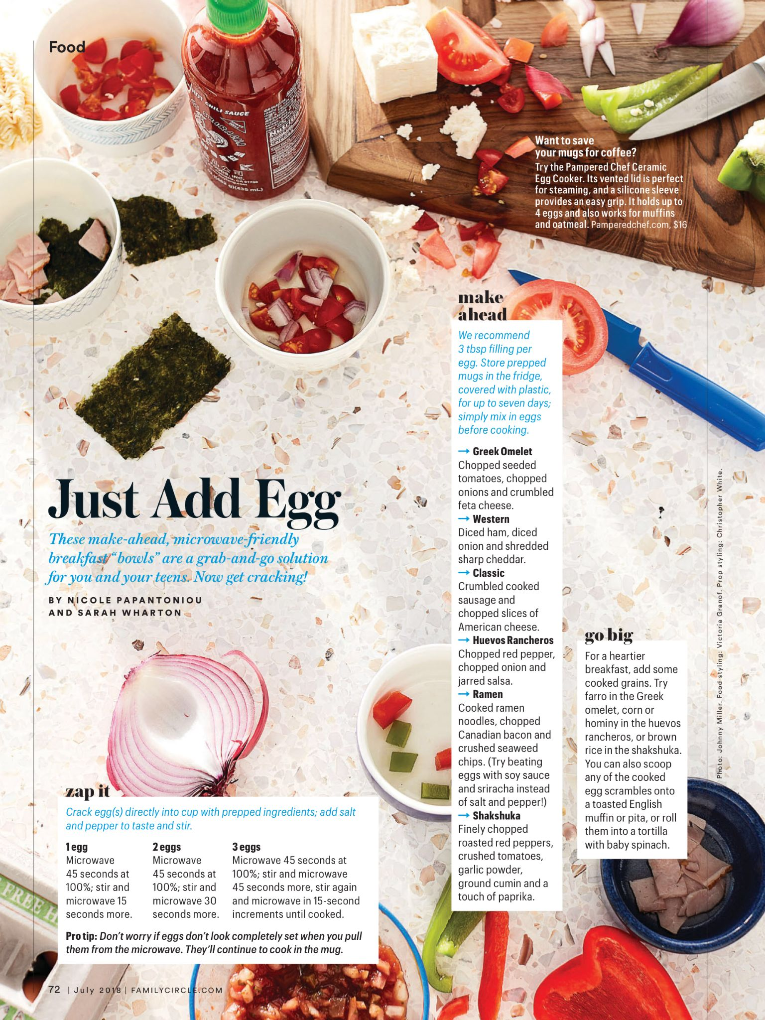 """""""Just Add Egg"""" from Family Circle, July 2018. Read it on"""