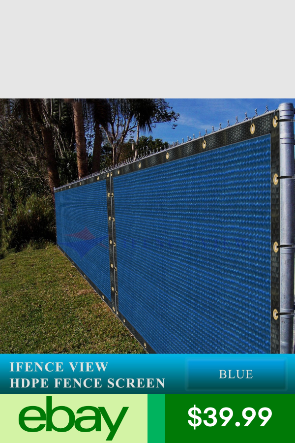 Ifenceview 6 X3 6 X50 Blue Fence Privacy Screen Mesh Net Fabric Garden Outdoor Garden Privacy Screen Outdoor Privacy Fence Screening