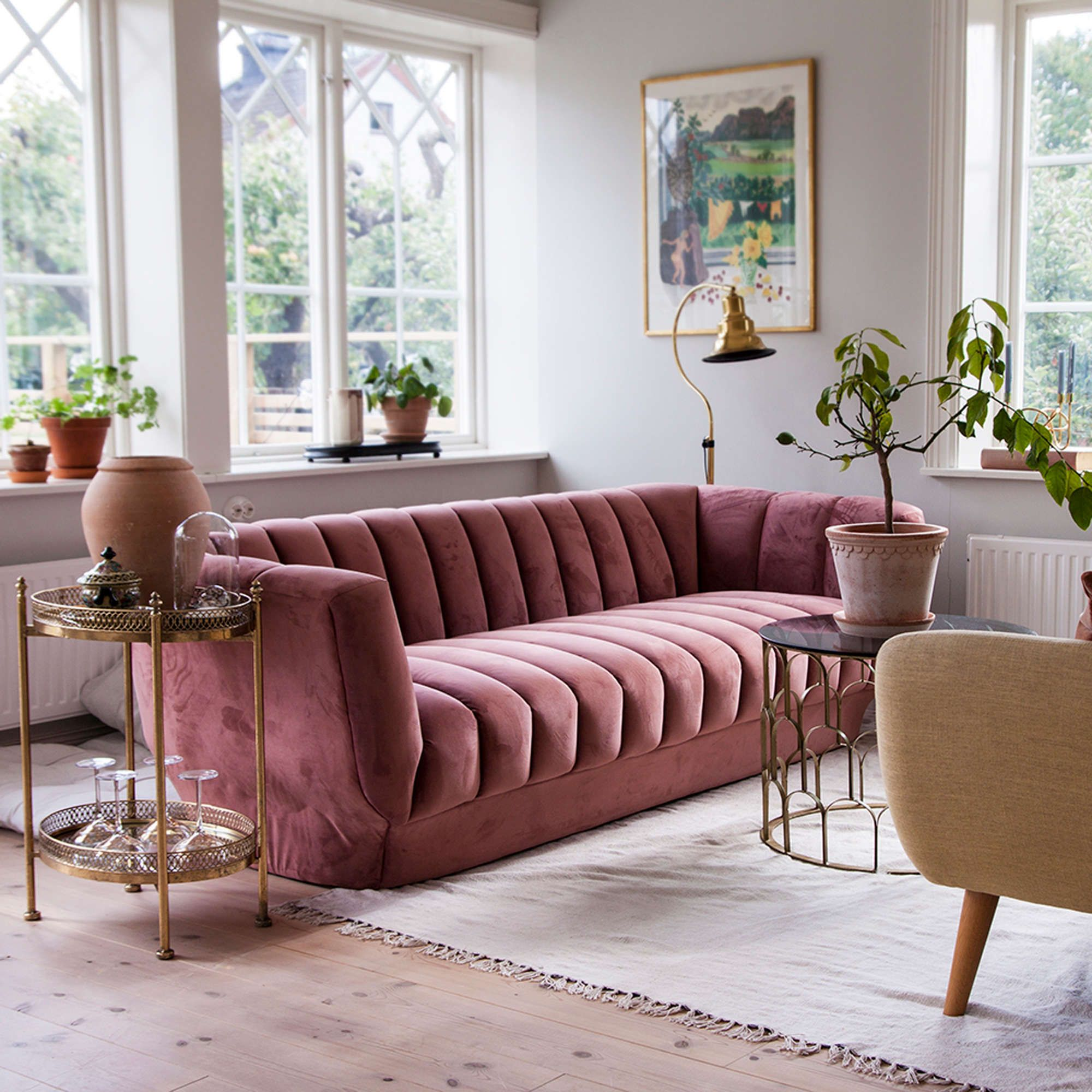 This Swedish House Is an Art Deco Scandi Dream Home is part of home Furniture Couches - This lovely, lightfilled Swedish home of fashion and interior influencer Ulrika is a beautiful look at colorful, organic modern Scandinavianinspired design