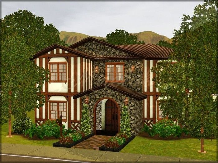 Windsor Mansion A Tudor House By Mireluk Sims 3 Downloads Cc Caboodle Sims House Sims House Design Sims House Plans