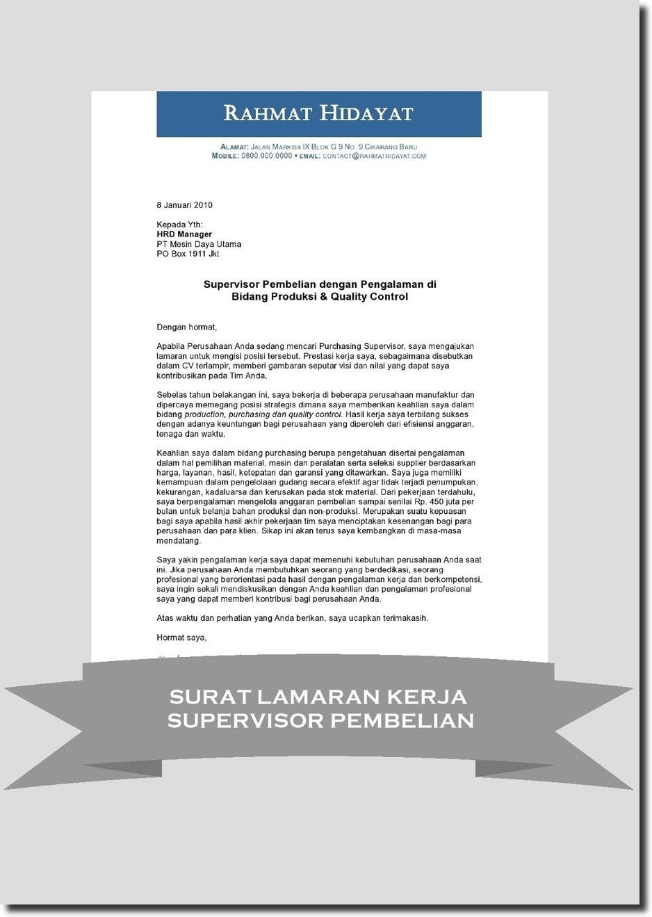 Surat lamaran kerja untuk supervisor ben jobs contoh lamaran surat lamaran kerja untuk supervisor ben jobs yelopaper Images