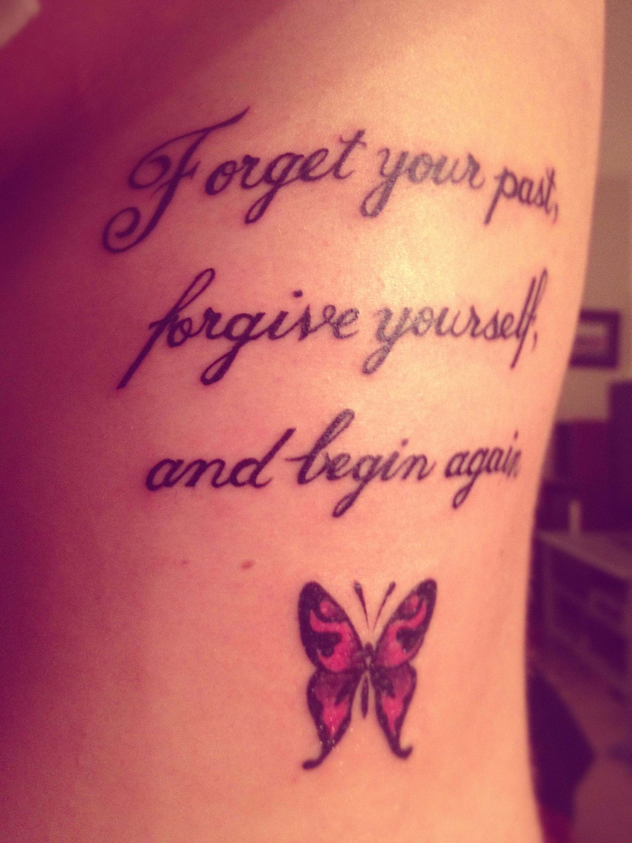 59cd49893 Nice quote tattoo with butterfly! | Tattoos | Tattoo quotes, Short ...
