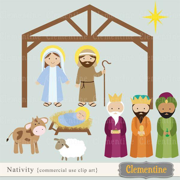 15+ Clipart Cute Nativity Scene