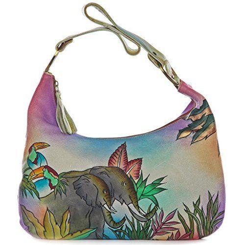 Magnifique Colorful Leather Hand Painted Shoulder Bag