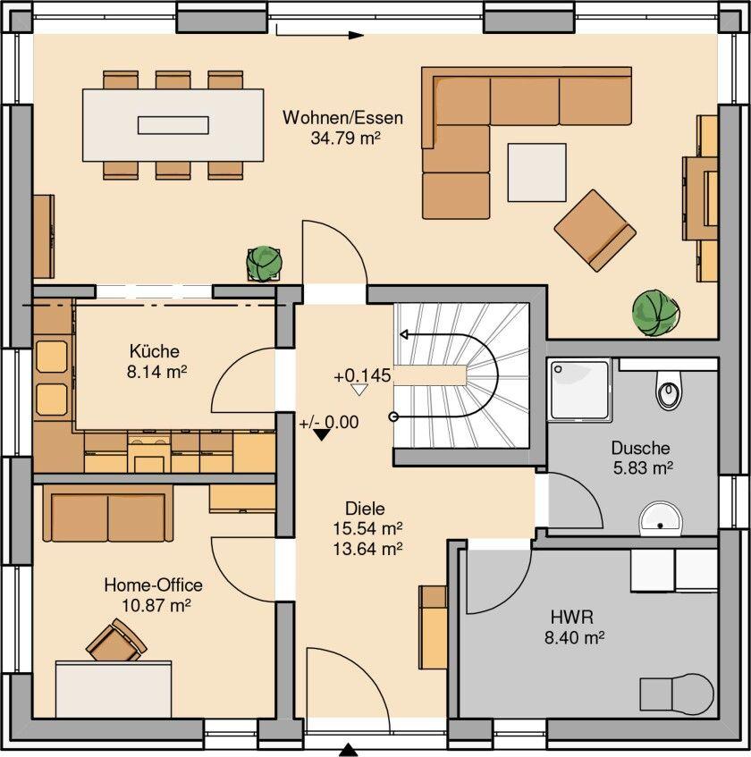 Grundriss   Grundrisse   Pinterest   House, Haus and Villa plan