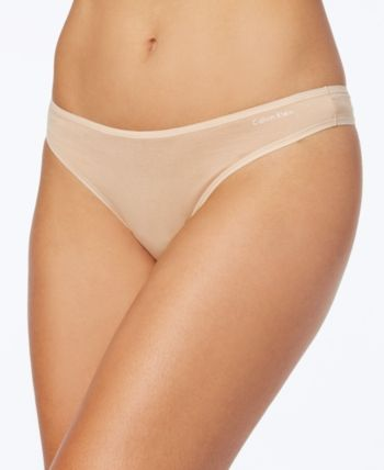 38334cb1a0 Calvin Klein Cotton Form Thong QD3643 - Tan Beige L