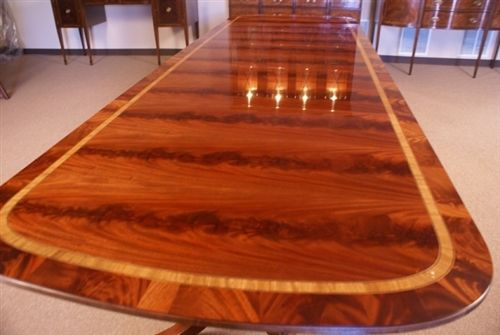 American Large Mahogany Dining Table Table 13 Long Ft 14 000