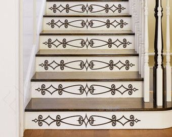 Vinyl Stair Decals For Staircase Riser Decor By FleurishWalls