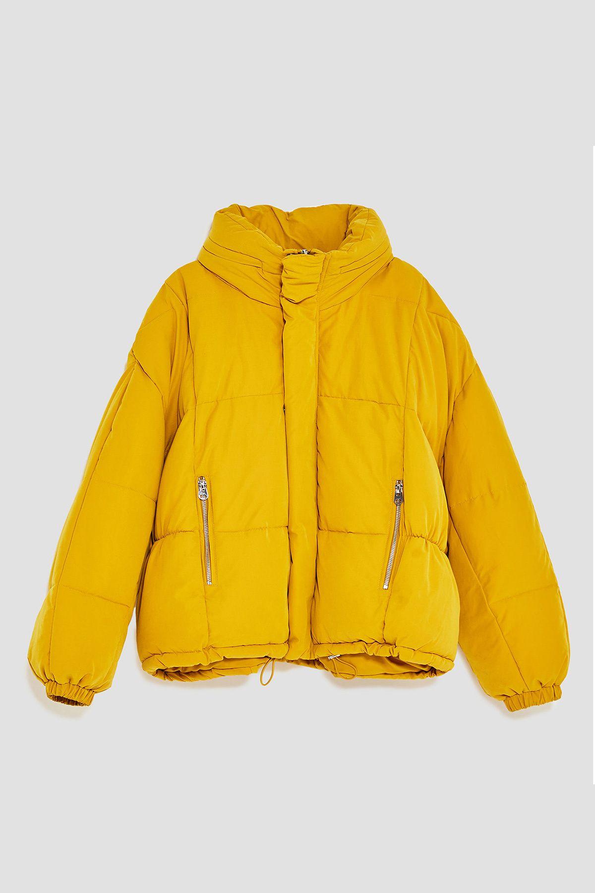 El plumas amarillo mostaza de Zara   Chaqueta amarilla zara