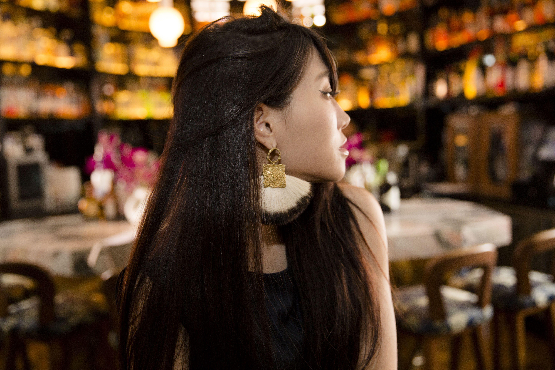 官網連結: http://www.accrostyle.com/products/canvas山羊毛扇妝飾耳環