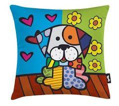 Romero Britto Pillow almofadas divertidas - Pesquisa Google