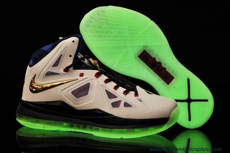 brand new 1bc3a b353d New USA Womens Nike Lebron X Glow-in-the-Dark Sole