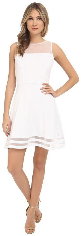 Jack by BB Dakota Naomi Ponte and Mesh Fit and Flare Dress