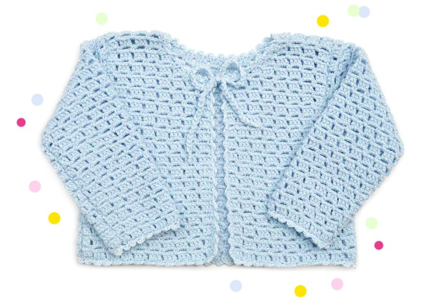 Crochet Kids Cardigan with byClaire Sparkle