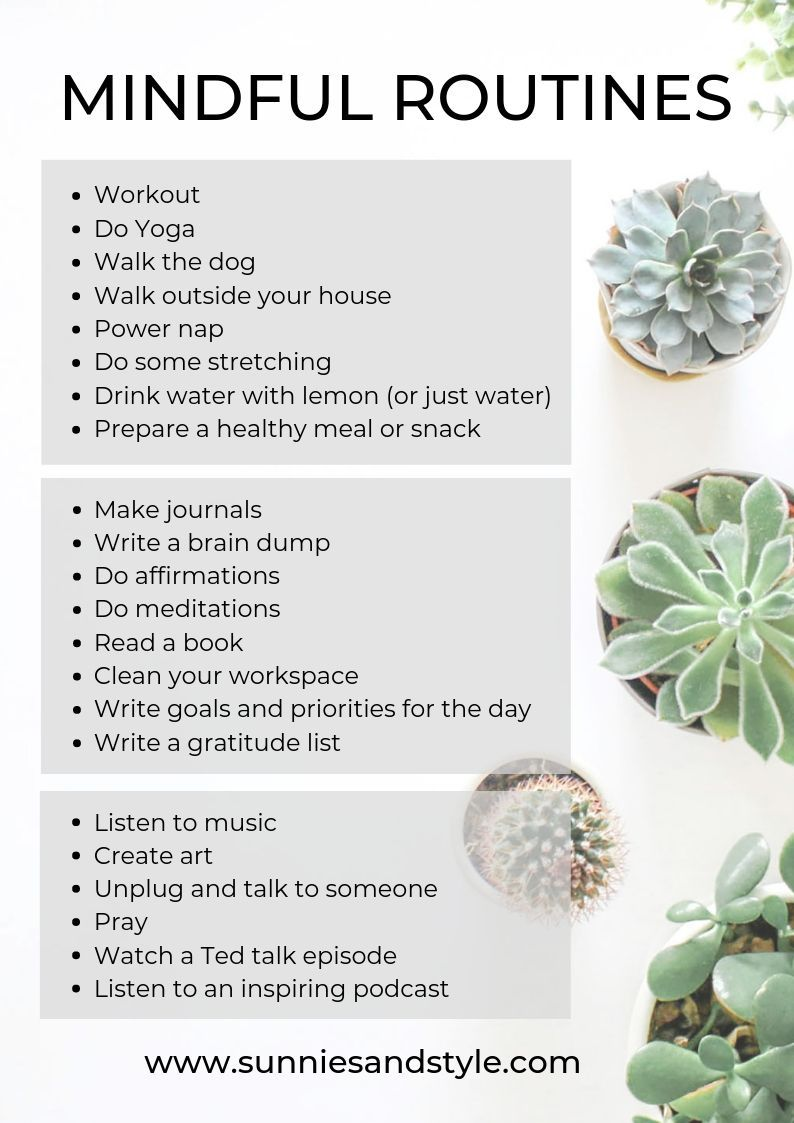 Mindful Routines #morningroutine