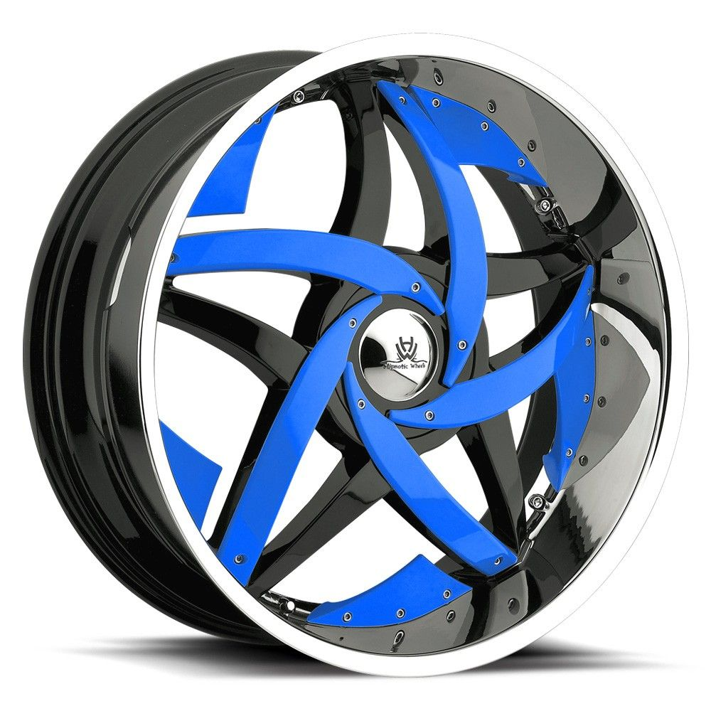 Cool Black And Blue Rims Move Your Mouse Over Image
