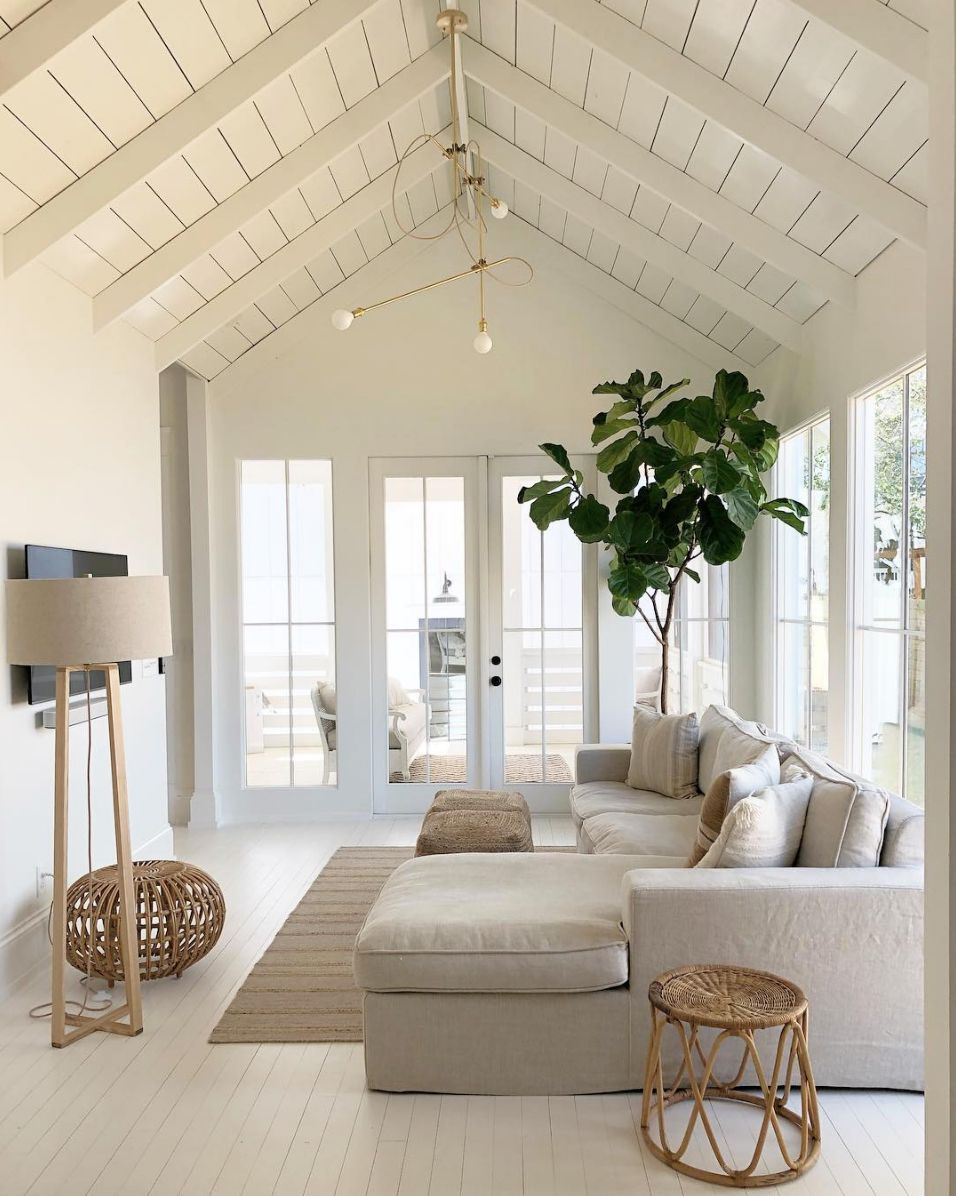 16 Coastal Chic Decorating Ideas That Will Transport You To The Beach Summer Living Room Farm House Living Room Living Room Decor Neutral