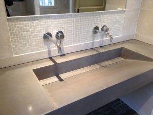 Plan vasque en creux - BALIAN BETON Atelier | salle de bain ...