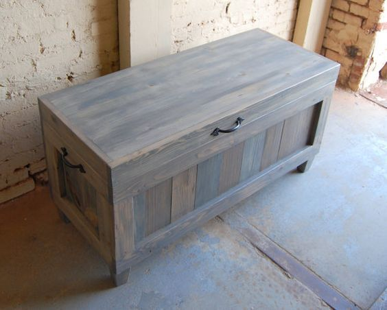 Hope Chest Wooden Chest End Of Bed Bench By Looneybintradingco Diy Furniture Projects Wooden Chest Patterned Furniture