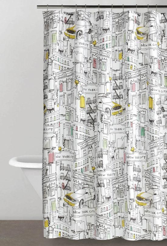 The Spriit And Energy Of New York City DKNY Broadway Shower Curtain