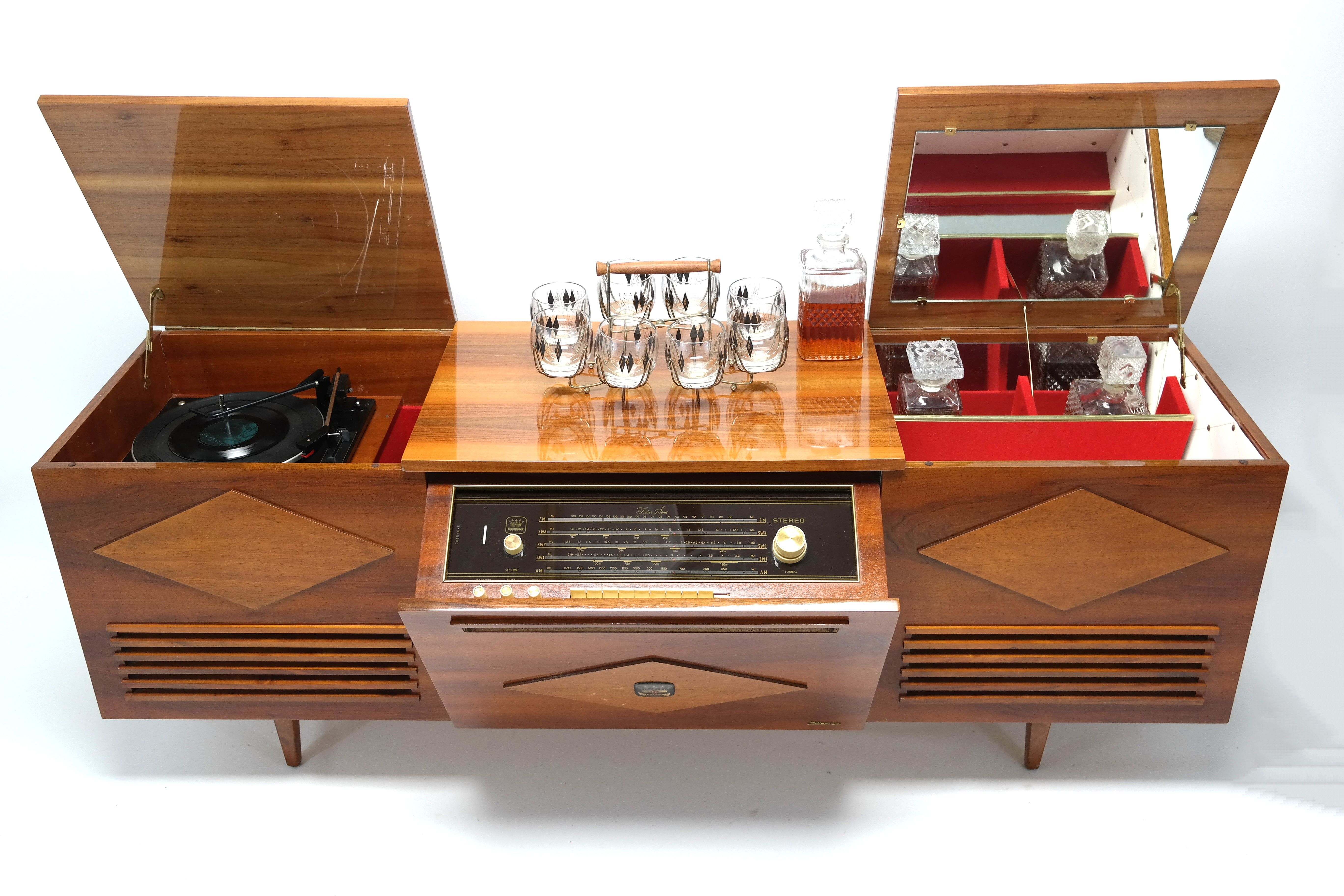 the famous koronette stereo console with built in bar https www