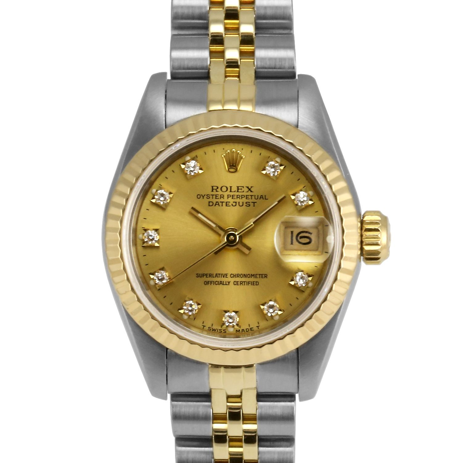 mens rolex datejust ii stainless steel black stick dial fluted ladies rolex datejust steel and gold champagne diamond square settings dial fluted bezel jubilee band