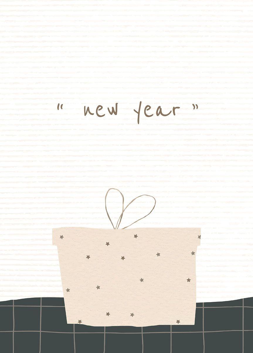 Download Premium Illustration Of New Year Editable Greeting Card Template Greeting Card Template New Year Card Design New Year Greeting Cards
