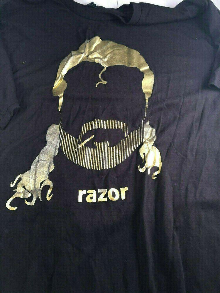 Razor Ramon Barstool Sports Black TShirt Large Wrestling