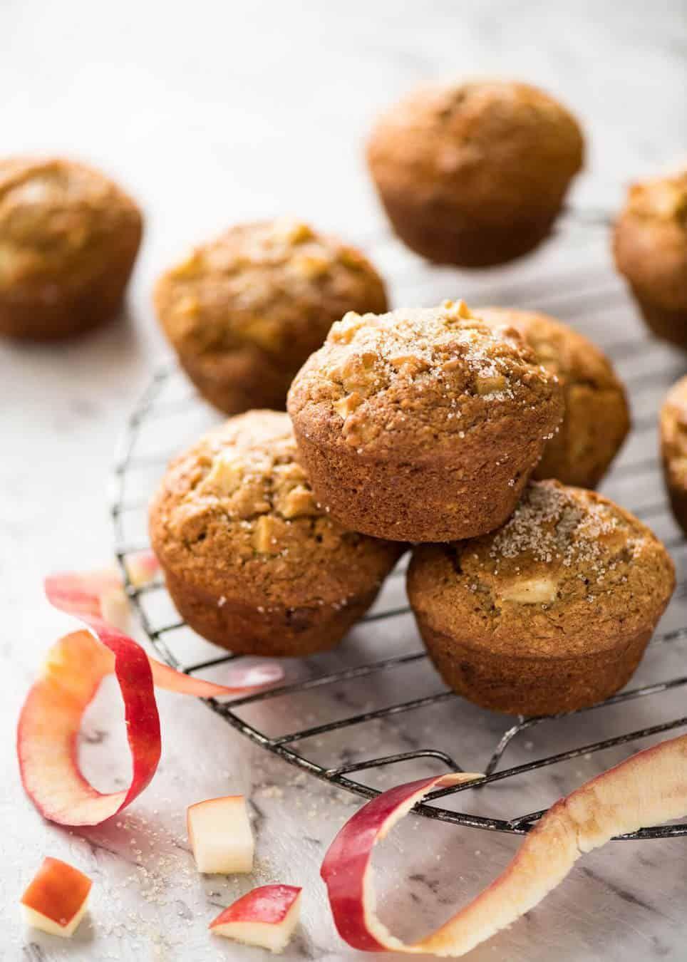 Magic Stay Moist Apple Muffins Recipe Apple Muffins Recipetin Eats Magic Muffins Recipe
